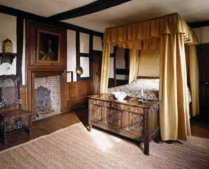 The King's Room at Moseley Old Hall, Staffordshire.