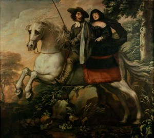 King Charles II and Jane Lane riding to Bristol, by Isaac Fuller, oil on canvas, 1660s? Image unchanged http://creativecommons.org/licenses/by-nc-nd/3.0/