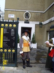 Parliamentary Guard outside the Banqueting House