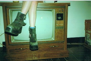 """Alex Jacobi Boots on TV"". Licensed under CC BY-SA 3.0 via Wikimedia Commons - http://commons.wikimedia.org/wiki/File:Alex_Jacobi_Boots_on_TV.jpg#mediaviewer/File:Alex_Jacobi_Boots_on_TV.jpg"