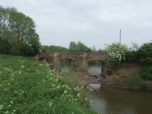 """Old Powick Bridge over the River Teme -"