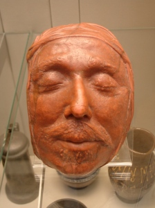 Oliver Cromwell's death mask.