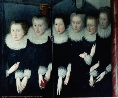 The Six Sisters Lucy Barbara Eleanor L to R Katherine far R