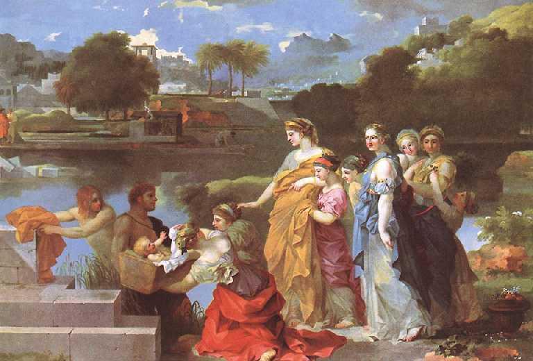 Upphittandet_av_Moses,_målning_av_Sébastien_Bourdon_(ca_1650)