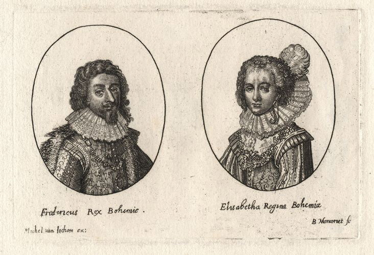 NPG D18169,Frederick V, King of Bohemia; Elizabeth, Queen of Bohemia,by; after Balthasar Moncornet; Unknown artists