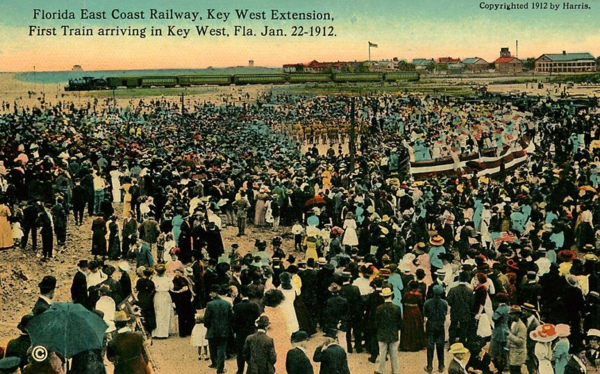 Florida_East_Coast_Railway_first_Key_West_Train_1912
